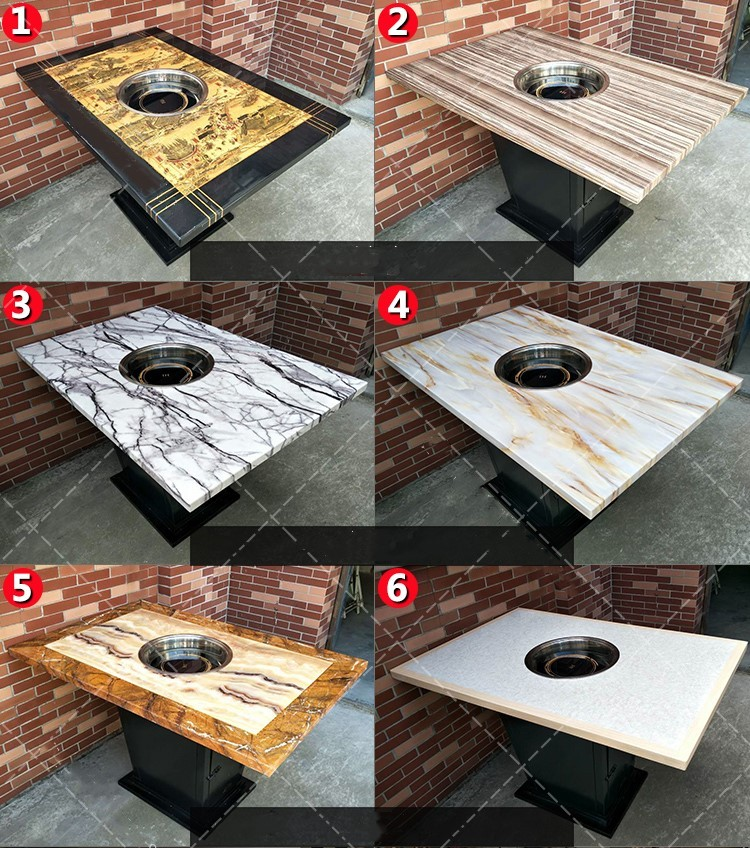 Korean Bbq Grill Dining Table
