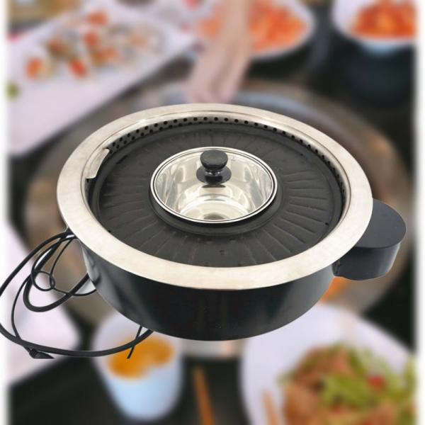 Electric Barbecue And Hot Pot Bbq Grill