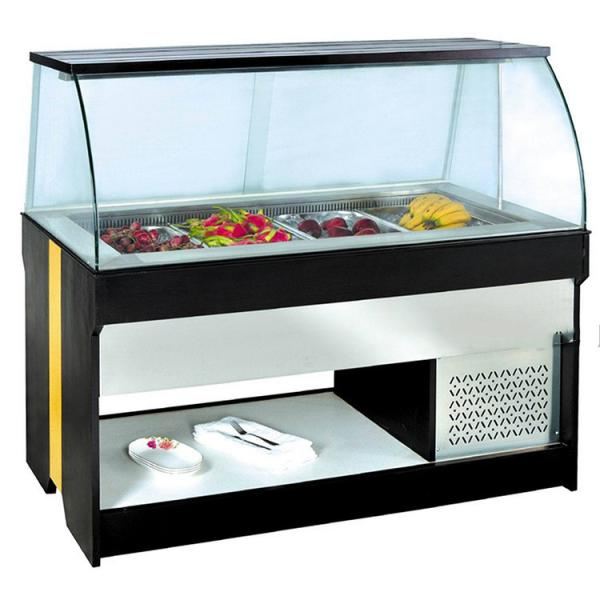 China factory stainless steel counter top cold food bar salad bar for sale