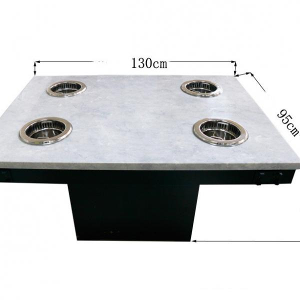 Restaurant Table Hot Pot Table with marble tabletop